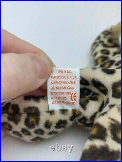 TY Beanie Baby Collection Retired Freckles Leopard June 3,1996 Rare Colelctable
