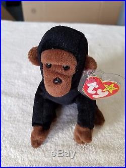 TY Beanie Baby Congo Very Rare, PVC Pellets, 1996, Many Errors