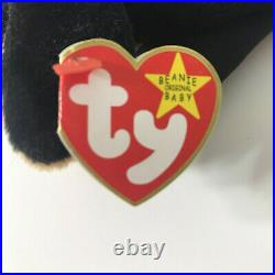 TY Beanie Baby Doby the Doberman Pinscher 1996 TAG ERRORS VERY RARE