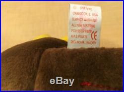 TY Beanie Baby GOBBLES TURKEY Rare/Retired Vintage Birthday Nov 27 1996 JKT11