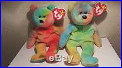 TY Beanie Baby Garcia the Bear (RARE) misprint swing tag PVC Beanie Baby 1995