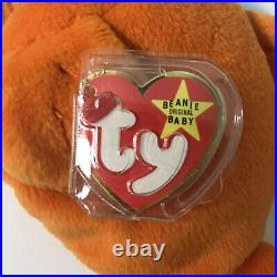 TY Beanie Baby Goldie the Goldfish 1994 PVC Pellets TAG ERRORS VERY RARE
