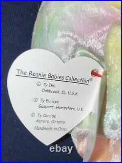 TY Beanie Baby Goochy Jellyfish Retired Rare Mint with Errors