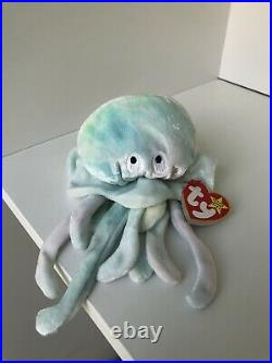 TY Beanie Baby Goochy Jellyfish Retired Rare with tag errors 1998 1999