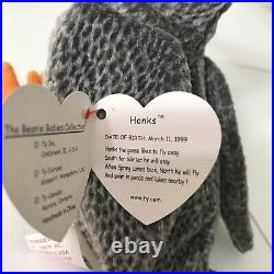 TY Beanie Baby HONKS the Goose 1999 Tag ERRORS EXTREMELY RARE Retired