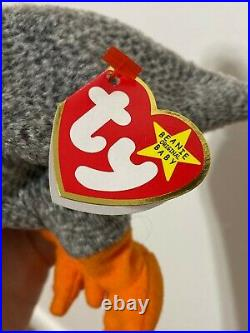 TY Beanie Baby HONKS the Goose 1999 Very RARE Tag & Poem Error! FREE SHIPPING