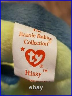 TY Beanie Baby Hissy with rare Tag Errors Mint Condition Retired Original 1997