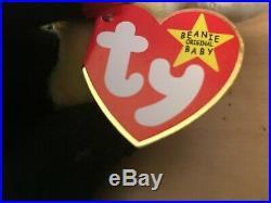 TY Beanie Baby IGGY THE IGUANA Rare/Retired Vintage Birthday Aug 12 1997 JKT11