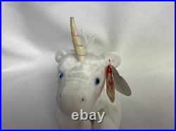 TY Beanie Baby Mystic the Unicorn 1994 Iridescent Horn ERRORS VERY RARE