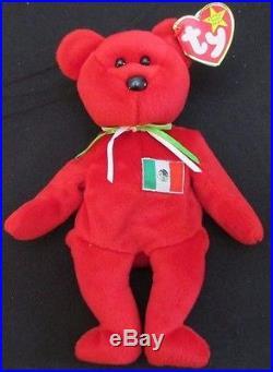 TY Beanie Baby Osito Bear Mexico ORIGINAL Rare Hand Made No Stamp Retired MWMT