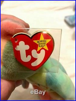 TY Beanie Baby Peace Bear VERY RARE 1996 Collectible With Tag Errors PVC