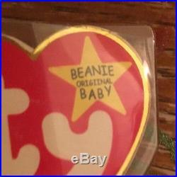 TY Beanie Baby Peace Bear With Tag Errors Rare 1996