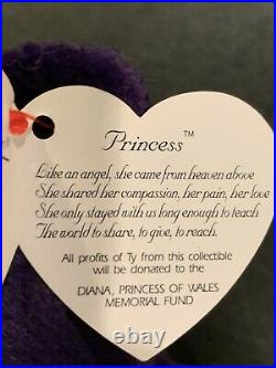 TY Beanie Baby Princess the (Diana) Bear from 1997 Rare & Retired MINT