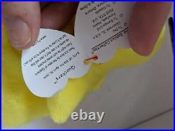 TY Beanie Baby Rare Retired Original Pristine Mint Condition 1994 Quackers Duck