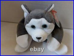 TY Beanie Baby Rare Retired Original Pristine Mint Condition 1996 Nanook Dog