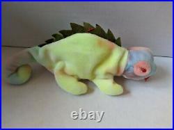 TY Beanie Baby Rare Retired Original Pristine Mint Condition 1997 Iggy Iguana