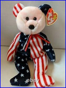 TY Beanie Baby Rare Retired Original Pristine Mint Condition 1999 Spangle Bear
