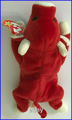 TY Beanie Baby SNORT THE BULL 1995 PVC Pellets ERRORS EXTREMELY RARE Retired