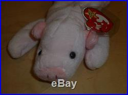 7a7c2d58886 TY Beanie Baby SQUEALER The Pig 1993 Style 4005 -PVC- ERRORS -MWMT ...
