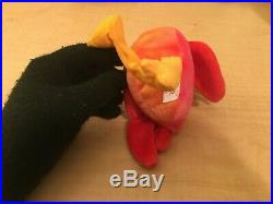 TY Beanie Baby STRUT THE ROOSTER Rare/Retired Vintage Birthday Mar 8 1996 JKT11