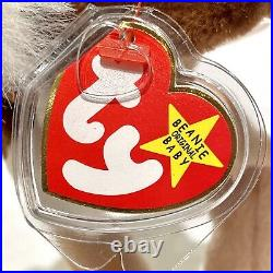 TY Beanie Baby Stretch the Ostrich 1997 Rare with Errors & PVC pellets
