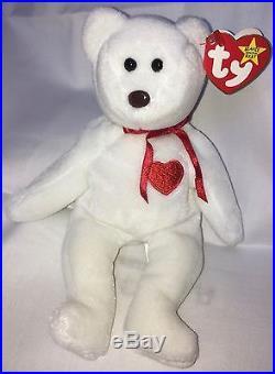 28ed983f69c TY Beanie Baby Valentino Bear Very Rare with Multiple Errors