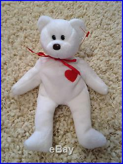 TY Beanie Baby Valentino the bear! RARE Excellent Collector Quality! Babies