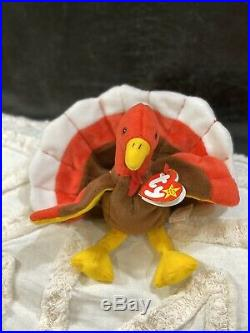 TY Beanie Beanies Gobbles Turkey Super Rare Mint With Tags! Retired