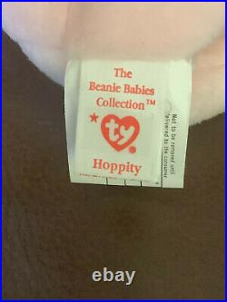 TY Beanie Hippity Hoppity Floppity Set Ultra Rare 2 Can Tags INVESTMENT QUALITY