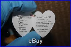 TY GARCIA Retired Beanie Baby Rare STYLE 4051 PVC Pellets