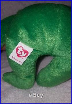 TY Inc BILLIONAIRE BEAR #15 Beanie Baby Signed Mint with tags SIGNED rare