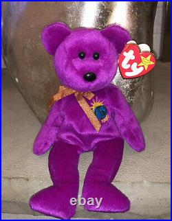 TY Millenium Bear Beanie Baby With Error! Rare! 1999
