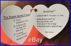 TY Original Beanie Baby Rare P. V. C Gobbles Turkey (Retired) 1996