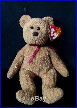 TY Original CURLY Bear Beanie Baby RARE COLLECTIBLE Unique Errors Beenie  Babies c06db0fb35b6