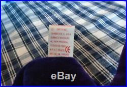 TY Princess Diana Beanie Baby Bear PVC Pellets. 1st Edition Rare 1997 PVC
