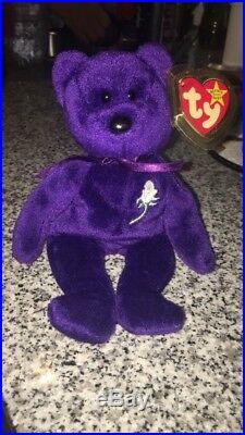TY Princess Diana Wales Beanie Babies Bear Original 1997 PE Pellets Edition RARE