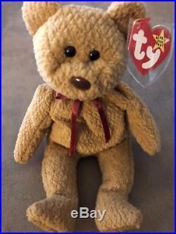 TY Very Rare curly Original Beanie Baby 1993-PVC pellets-many errors