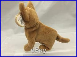 Tiny the Chihuahua Ty Beanie Baby, Rare Misspelled Tag, Excellent Condition