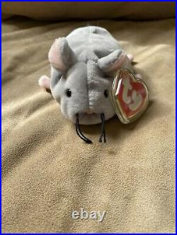 Trap the Mouse ty retired original beanie babies rare 1st gen