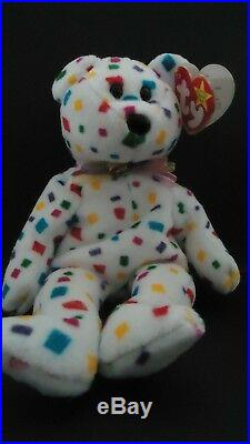 Ty 2K Beanie Baby New Years Eve Teddy Bear Mint Condition Extremely Rare