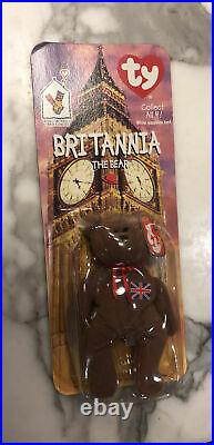 Ty Beanie Babies Britannia The Bear Mint Condition And Rare With Tag Errors