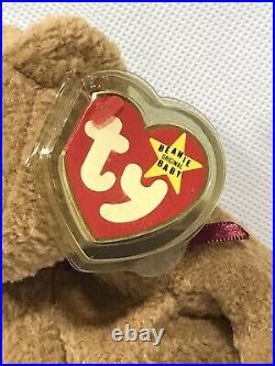 Ty Beanie Babies Curly Bear 1996 Rare With Tag Errors! #4052 Tag Retired PVC