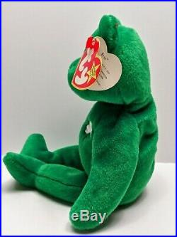 Ty Beanie Babies Erin The Irish Bear Extremely Rare With Errors MT-NWT VTG 1997