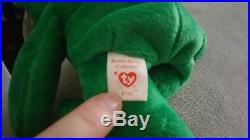 Ty Beanie Babies. Erin. Very Rare. Numerous Errors