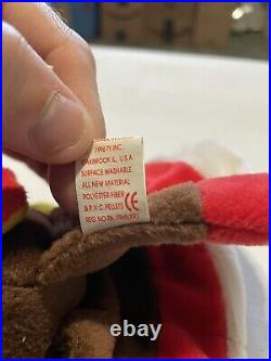 Ty Beanie Babies Gobbles the Turkey, Rare with Tag Errors and PVC Pellets