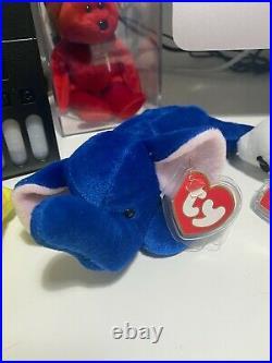 Ty Beanie Babies Peanut Royal Blue (VERY RARE!)
