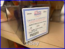 Ty Beanie Babies Princess Bear ODDITY NO ROSE PVC 1st Edition RARE