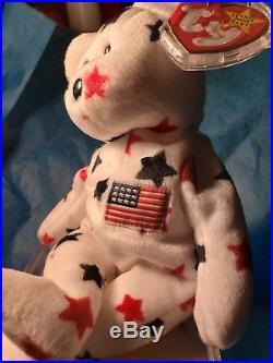 Ty Beanie Babies RARE Retired Glory Teddy Bear 1st EDITION BEST CHRISTMAS GIFT
