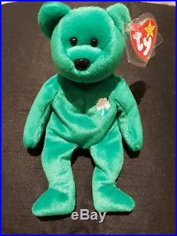Ty Beanie Babies Rare Erin' Irish Bear