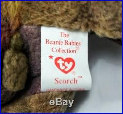Ty Beanie Babies Scorch The Dragon Rare With Errors Retired 1998 Collectible